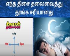 எந்த திசை தலைவைத்து தூங்க சரியானது - Best Direction to Sleep at Night