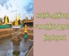 காஞ்சி அத்திவரதர் சயனத்தில் இருக்கும் திருக்குளம்