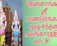 தென்னாங்கூர் ஸ்ரீ பாண்டுரங்கன் முழு சந்தன அலங்காரத்தில் காட்சி