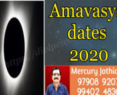 2020 - Amavasai Dates