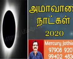 2020 - அமாவாசை தேதிகள்