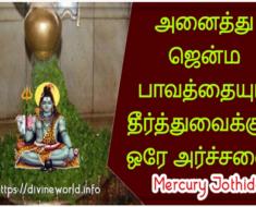 அனைத்து ஜென்ம பாவத்தையும் தீர்த்துவைக்கும் ஒரே அர்ச்சனை - Mercury Jothidam