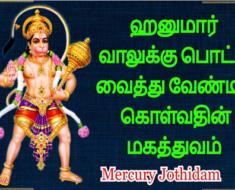 ஹனுமார் வாலுக்கு பொட்டு வைத்து வேண்டிக் கொள்வதின் மகத்துவம் - Mercury Jothidam