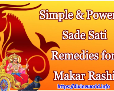 Simple & Powerful Sade Sati Remedies for Makar Rashi