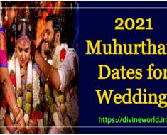 2021 Muhurtham Dates for Wedding