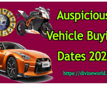 Auspicious Dates 2020 for Vehicle Buying