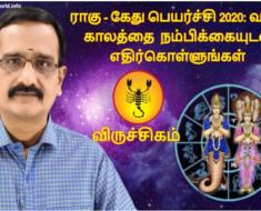 விருச்சிகம் ராகு - கேது பெயர்ச்சி 2020: வரும் காலத்தை நம்பிக்கையுடன் எதிர்கொள்ளுங்கள்