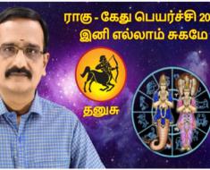 தனுசு ராகு - கேது பெயர்ச்சி 2020: இனி எல்லாம் சுகமே
