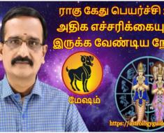 மேஷம் ராகு - கேது பெயர்ச்சி 2020: அதிக எச்சரிக்கையுடன் இருக்க வேண்டிய நேரம்