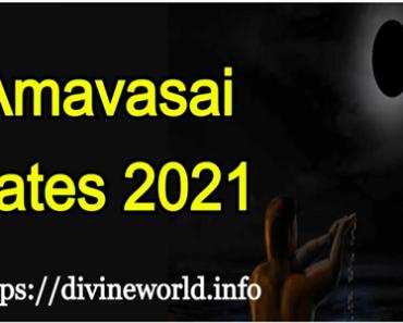Amavasai Dates - 2021