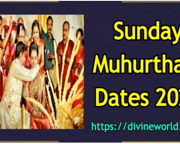 Sunday Vivah Shubh Muhurat Dates 2021