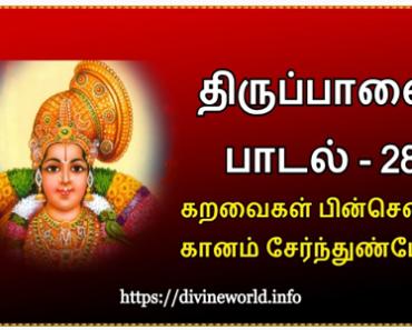 திருப்பாவை பாடல் 28 கறவைகள் பின்சென்று கானம் சேர்ந்துண்போம் ;Tiruppavai Padal 28 Karavaigal pin sen