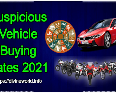 Auspicious Vehicle Buying Dates 2021