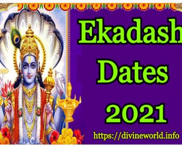 Ekadashi Dates 2021