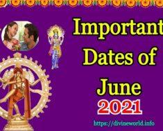 Important Dates of June 2021